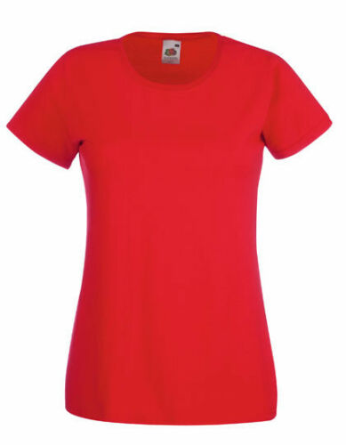 C Fruit of the Loom Valueweight T Lady-Fit XS XXL T-Shirts F288N