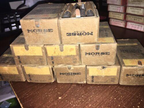 """Vintage MORSE Tap No.2047 12pc set /""""3//8-20 NS HS/"""" LH Machinists NOS NIB"""