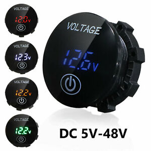 Details about  /12V-24V LED Digital Voltmeter Voltage Meter Battery for Car Marine Motorcycle