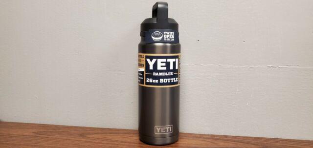 Yeti Rambler 26oz Bottle Vacuum Insulated Twist Open Chug Cap Graphite New