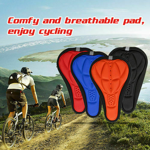 3D Gel Silicone Bicycle Bike Saddle Cushion Soft Pad Seat Cover Heat Dissipation