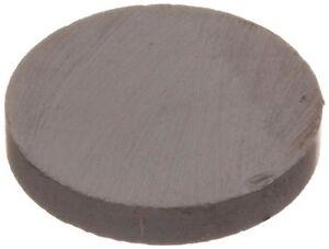 """Ceramic Disc Magnet, 0.970"""" Diameter, 0.156"""" Thick"""