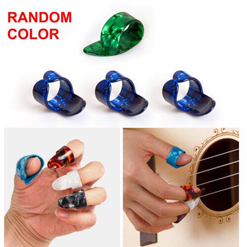 3 Finger Picks 1 Thumb Pick Plectrums Guitar Plastic Set New for Beginner Gift