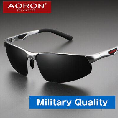 AORON Herren HD Polarisiert Sonnenbrille Metal  Auto Pilotenbrille 100/% UV 400
