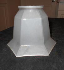 "ANTIQUE 6 PANEL SATIN GLASS LAMP LIGHT SHADE~2 1/8"" FITTER X 3 3/4"""