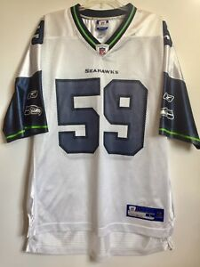 7ddaffbd3e8 Reebok NFL ON FIELD Seattle Seahawks  59 Aaron Curry Men s Large ...