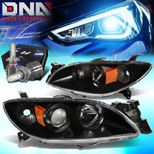 For 2004 2009 Mazda 3 Sedan Projector Headlight Withled Kitcool Fan Blackamber Fits Mazda 3