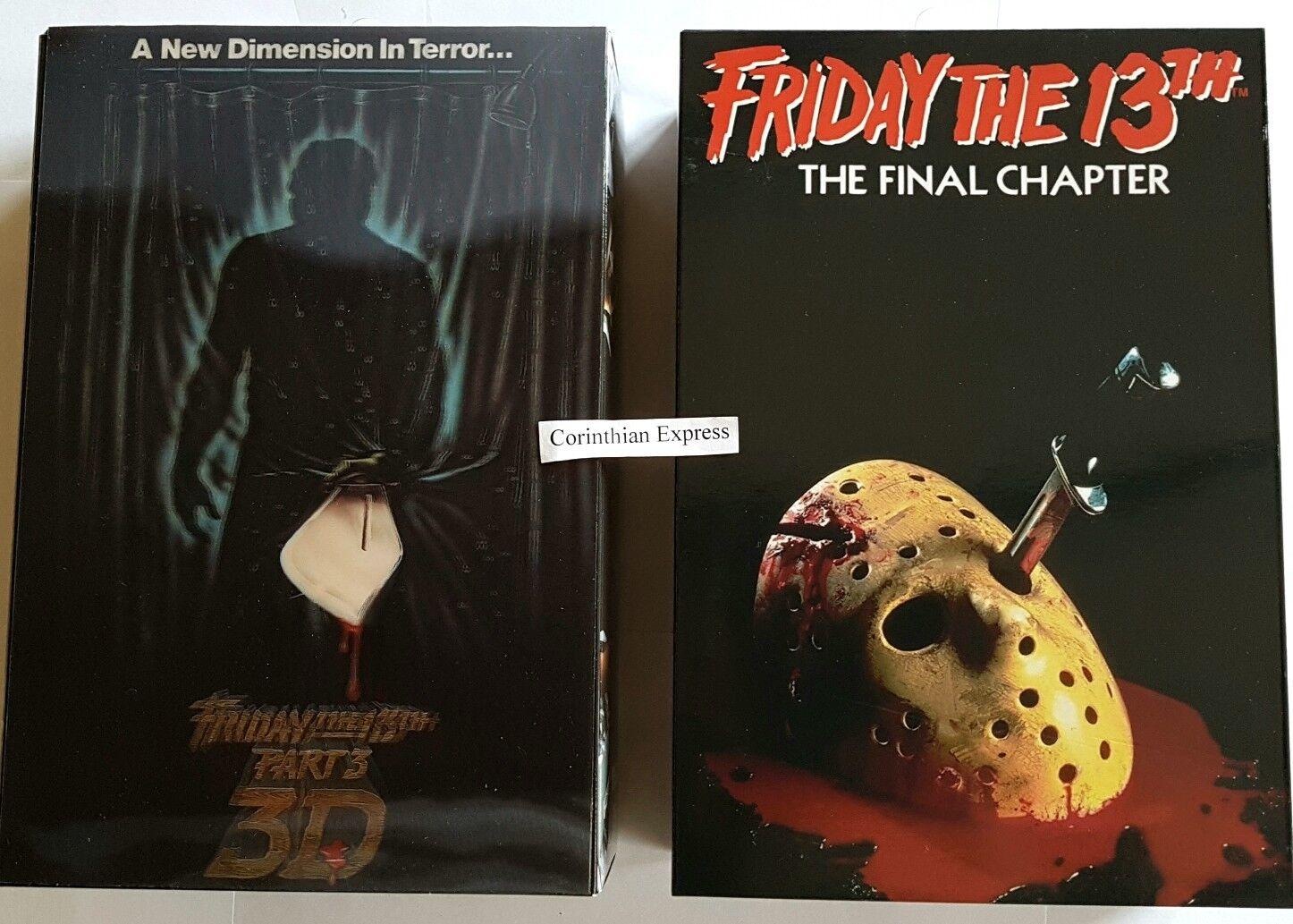 """Friday The 13th-Jason parte 3 y Jason Jason Jason parte 4 - 7"""" Figura de Acción 2-Pack (NECA)  Hay más marcas de productos de alta calidad."""