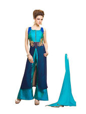 Indian Bollywood Indo Western Dress Ethinic New Design Stylist Top Blue 1