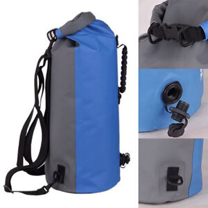 2e59d80c99f6 Image is loading 60L-Waterproof-Storage-Dry-Bag-Backpack-Kayaking-Canoeing-
