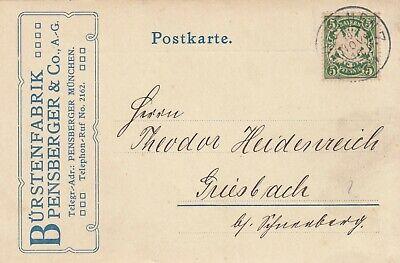 Postkarte 1910 Sparsam MÜnchen Ag Bürsten-fabrik Pensberger & Co