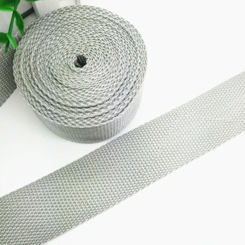 38mm DIY 5 Yards 1.5inch Width Length Light gray Strap Nylon Webbing Strapping
