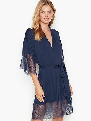 2 COLORS NEW Victoria Secret LACE Trim Kimono Robe 4 SIZES