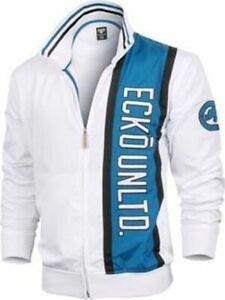 New! Ecko Men's Track Jacket - White & Blue Black - Martial Arts MMA, UFC, Pride