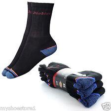 3 Pairs of Dickies Workwear Black Cushioned Warm Winter Work UK 6-11 Work Socks