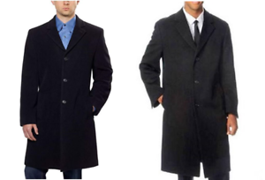 NEW Hathaway Platinum Men's Wool & Cashmere Italian Coat