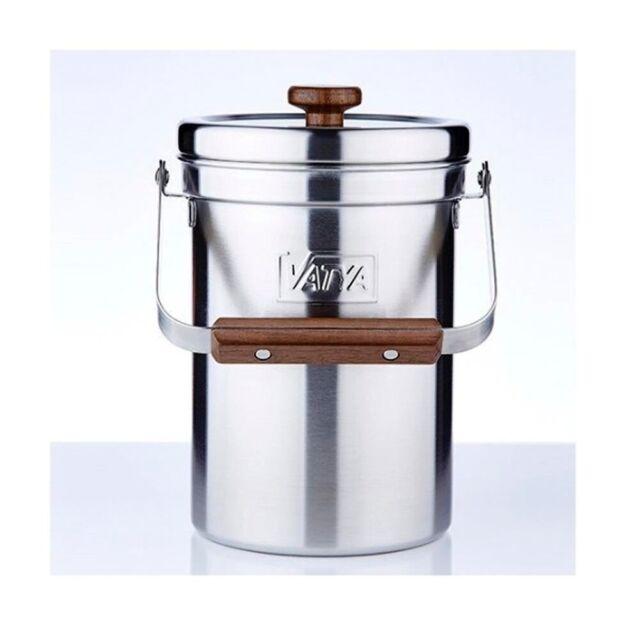 VATYA 18-8(#304) Stainless Steel Compost Pail Kitchen Waste Compost Bin