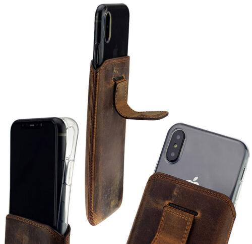 "Funda de silicona en Antik-Café Iphone X XS 5.8 /""Funda De Cuero Incl"