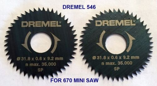 CROSSCUT SAW BLADE FOR 670 MINI SAW SMOOTHER CUTS 4 NEW DREMEL 546 RIP