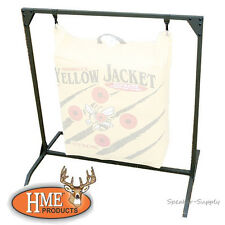 """HME Bag Target Stand for Archery Bow Range up to 30"""" x 30"""" Target Bags Olive BTS"""