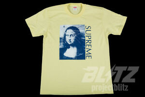 Image Is Loading Supreme Mona Lisa Tee Pale Yellow S M L Xl