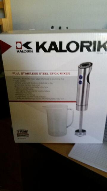 Kalorik Stainless Steel Stick Mixer and Mixing Cup Black
