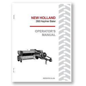 new holland 268 baler hayliner operator s owners book guide manual rh ebay com new holland 268 baler parts manual new holland 268 baler manual pdf
