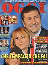 Oggi 2009 41,FABIO FAZIO,ORNELLA MUTI,LADY DIANA,ORIANA FALLACI,EDWIGE FENECH