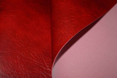 Fire Red Expandable Premium Faux Leather Upholstery Material Leatherette Fabric