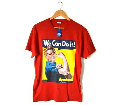 We Can Do It Poster Shirt Rosie the Riveter T-Shirt feminism motivational VNECK