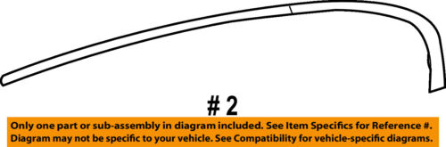 Buick GM OEM 10-16 LaCrosse Exterior-Rear-Reveal Molding Right 20992791