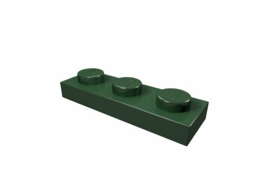 3623 dunkelgrün LEGO Platte 1 x 3 3 x neu