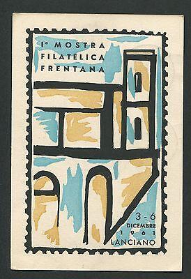 Italien Mostra Filatelica Lanciano 1961 Cartolina Ausstellung Sonderkarte C9446