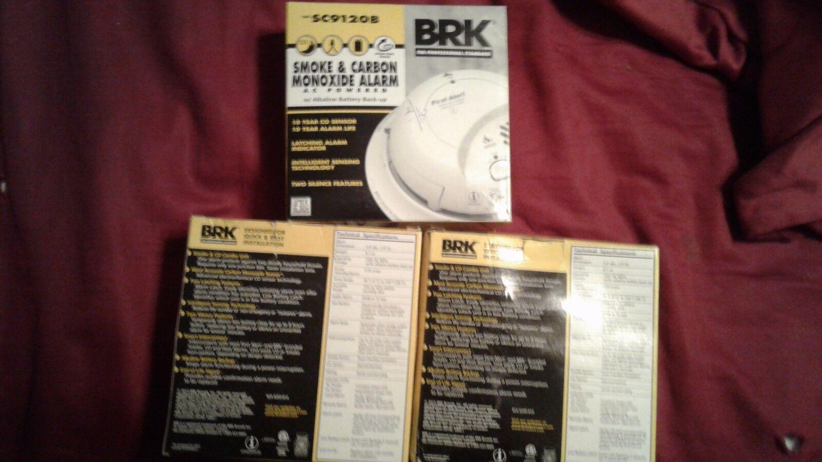 First Alert BRK cableado SC9120B Combinación De Humo Monóxido de Carbono Alarma con x3