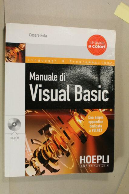 Cesare Rota - VISUAL BASIC - Hoepli 2010 con dvd, come nuovo