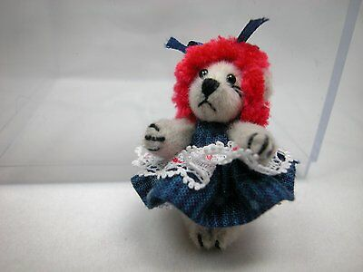 "World of Miniature Bears 1.25/"" Plush Bear Purple  #181 Collectible Bear"