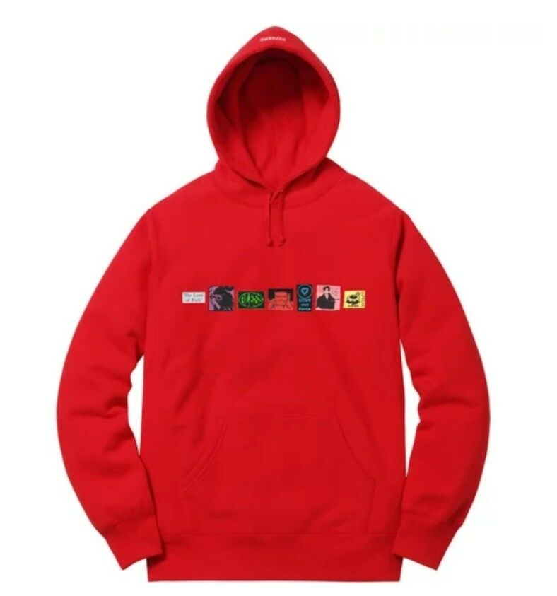 Supreme ssw15 Bless Hooded Sweatshirt rot  Sz Medium in hands ready to ship