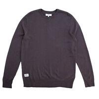 Wesc Anwar Long Sleeve Mens Knitted Sweater Plum Grey