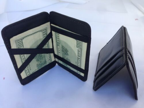 Leatherette Magic Slim Wallet Credit Card Id Money Clip Organizer Card Holder