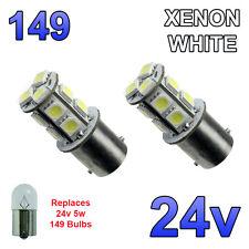 2 x White 24v LED BA15s 149 R5W 13 SMD Number Plate Interior Bulbs HGV Truck