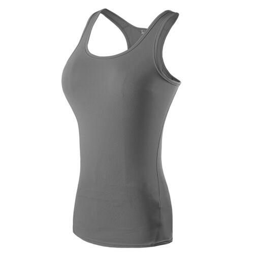 Women Athletic Workout Yoga Vests Long Short Sleeve Gym T-shirt Moisture Wicking