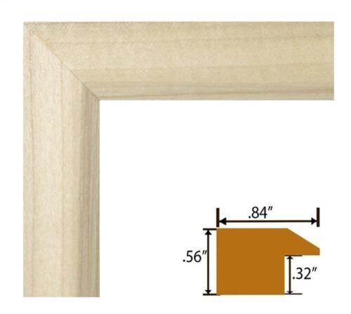 """US ART Frames .84/"""" Unfinished DIY Natural Real Poplar Wood Picture Frames S-B"""