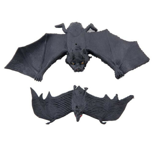 Hanging Rubber Vampire Bat Toys Prop Halloween Fancy Dress Cosplay Party Decor