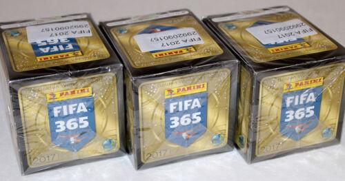 ed 2017 PANINI FIFA 365 stagione Europa 3 X DISPLAY BOX 150 cartocci packets INT