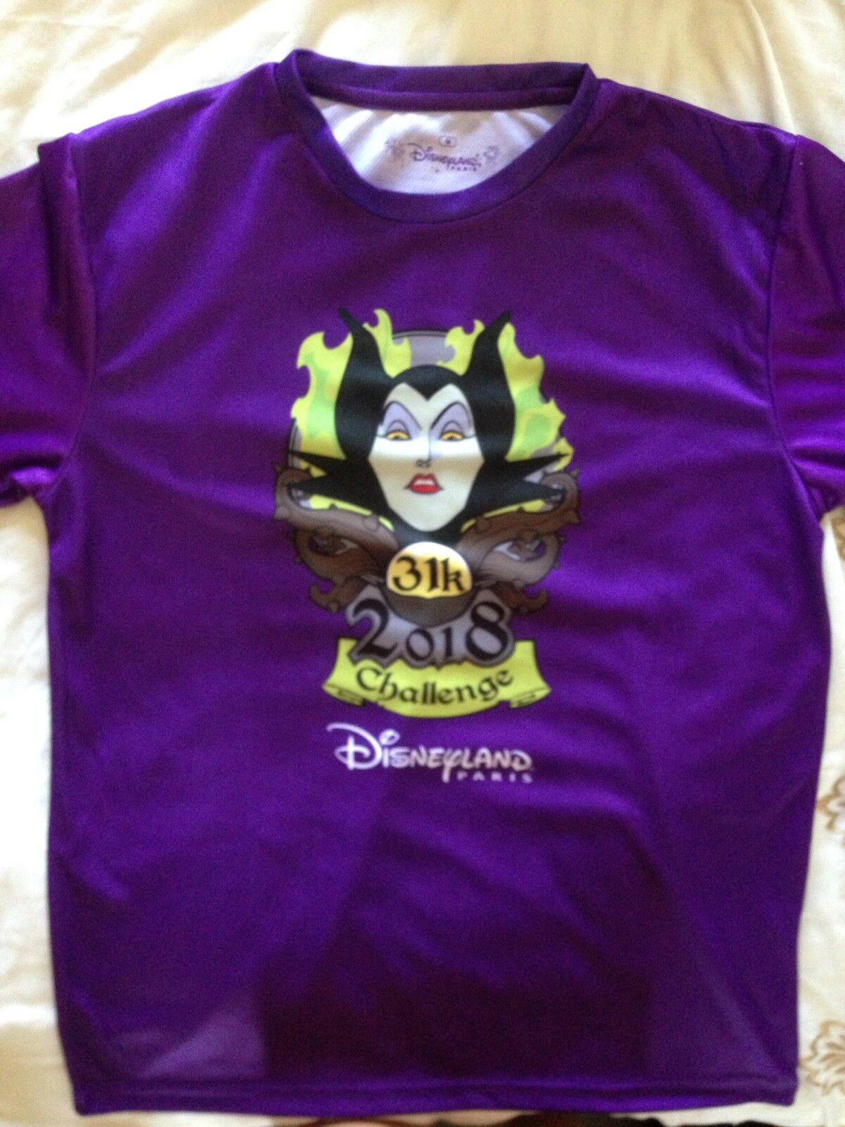 Run Disney Official Disneyland Paris 31k Challenge Mens Running Shirt Medium M