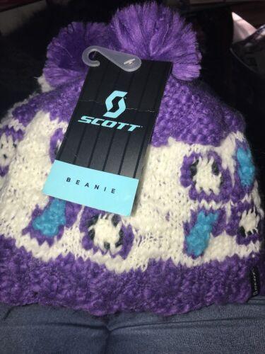 Purple Kali Women's Acrylic Beanie w//Pom Pom NWT SCOTT SPORTS