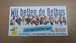 ► De Lijn - folder belbus Geraardsbergen (vanaf 19-11-2000)