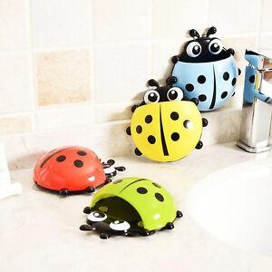 1Pc  Bathroom Hooks Tools Ladybug Toothbrush Holder for  bathroom accessories