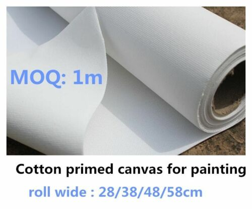 White Rolled Blank Canvas Artwork Supplies Designed For Activity Artist Painting