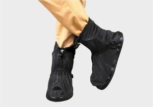 Anti-slip-Reusable-Shoe-Covers-Waterproof-Rain-Boot-Overshoes-Unisex-Black-White